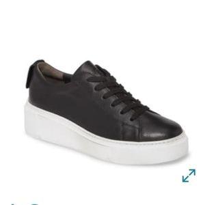 Paul Green Debbie leather wedge sneaker